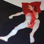 AlejandroAntón, Autorretrato con cojín rojo